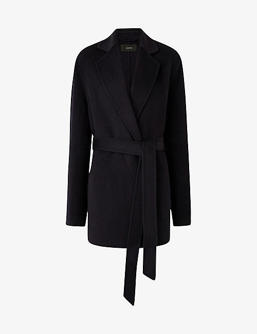 JOSEPH: Cenda wool and cashmere-blend belted coat