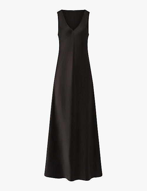 JOSEPH: Daris sleeveless silk maxi dress