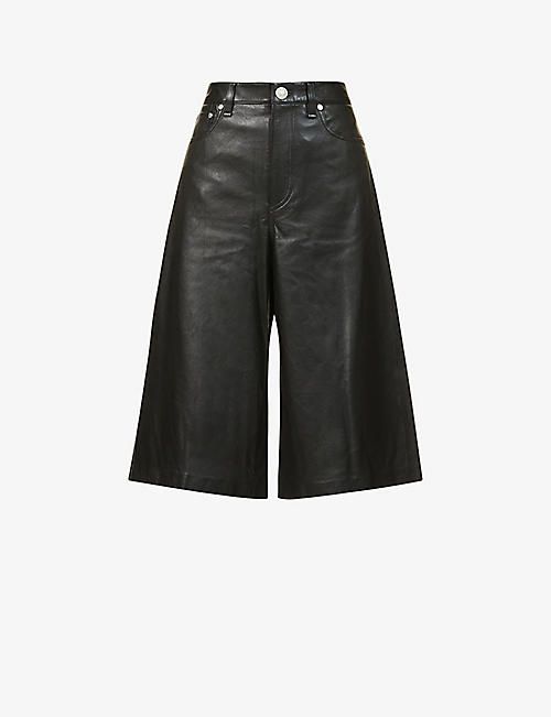 RAG & BONE: Relaxed-fit leather culottes