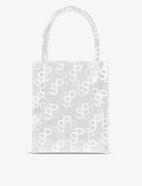 SAKS POTTS: Mob mini monogram PVC top-handle bag
