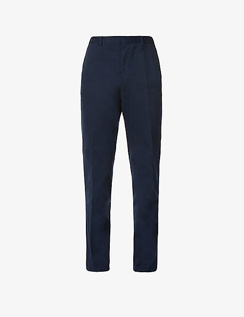 POLO RALPH LAUREN: Regular fit mid-rise stretch-cotton trousers