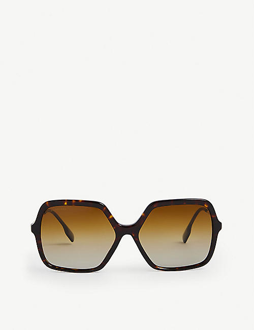 BURBERRY: BE4324 butterfly-frame sunglasses