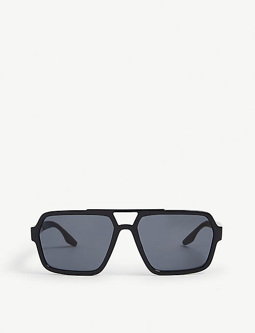 PRADA LINEA ROSSA: PS01XS square-frame acetate sunglasses
