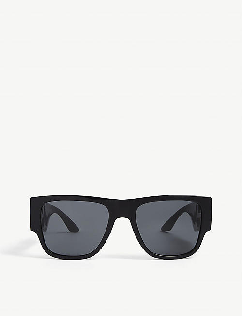 VERSACE: VE4403 57 round-frame acetate sunglasses