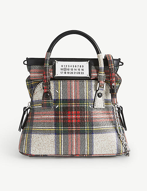 MAISON MARGIELA: Tartan leather top-handle bag