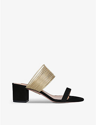 AQUAZZURA: Rendez Vous suede heeled sandals