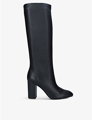 AQUAZZURA: Boogie knee-high leather boots