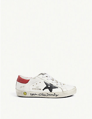 GOLDEN GOOSE: Superstar distressed leather trainers 6-9 years