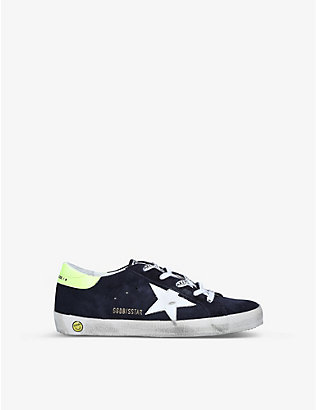 GOLDEN GOOSE: Superstar suede trainers 6-8 years
