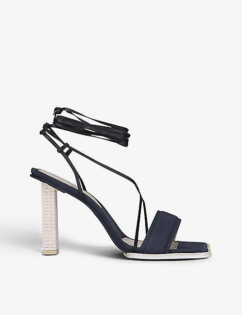 JACQUEMUS: Les Sandales Adour Hautes leather heeled sandals