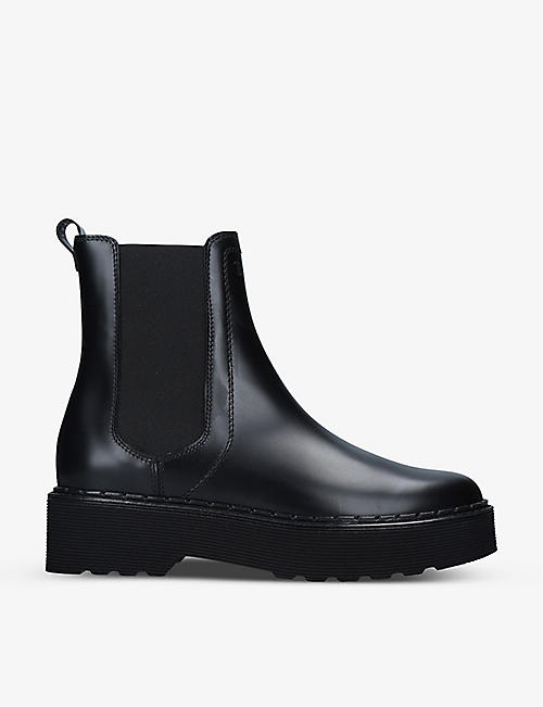 TODS: Carrarmato leather Chelsea boots