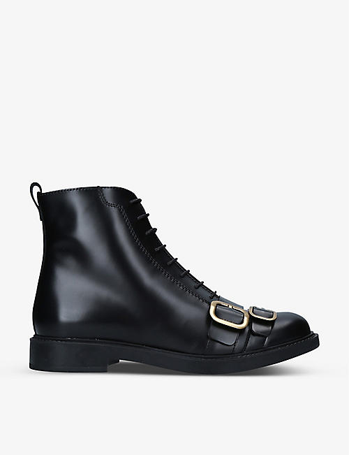 TODS: Gomma Basso leather ankle boots
