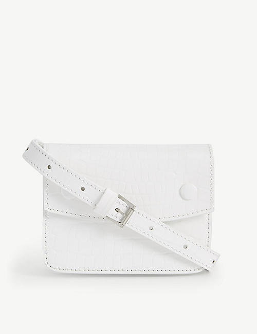 MAISON MARGIELA: Croc-embossed leather belt bag