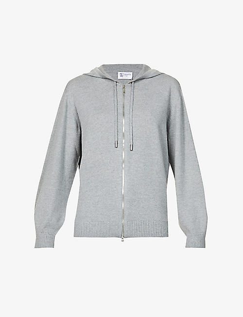 JOHNSTONS: Marla zipped wool hoody