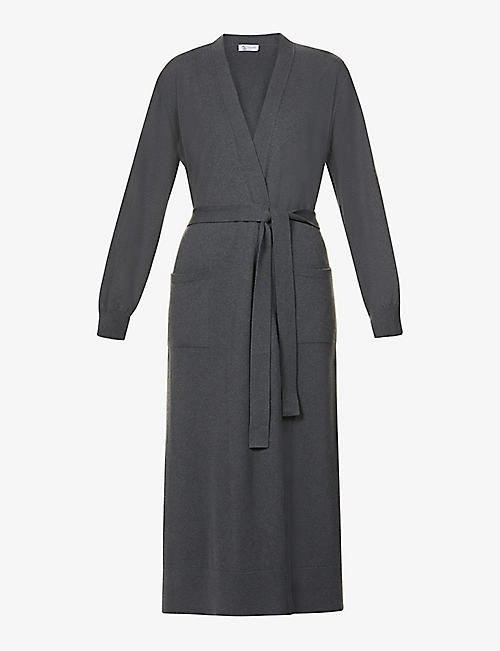 JOHNSTONS: Ines belted wool cardigan