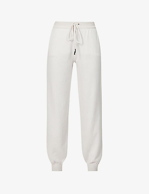 JOHNSTONS: Josephine Easy relaxed mid-rise wool jogging bottoms