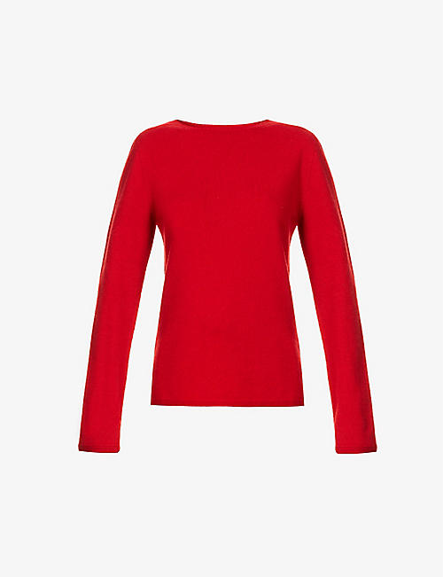 JOHNSTONS: Harriet round-neck wool jumper