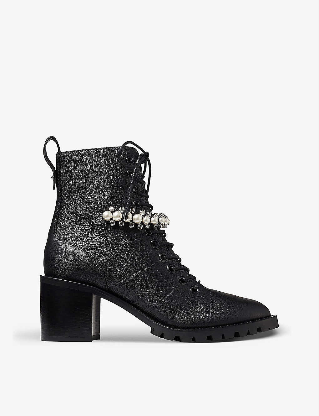 JIMMY CHOO: Cruz 65 embellished leather ankle boots
