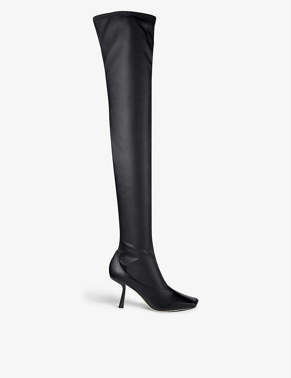 JIMMY CHOO: Mire over-the-knee leather boots