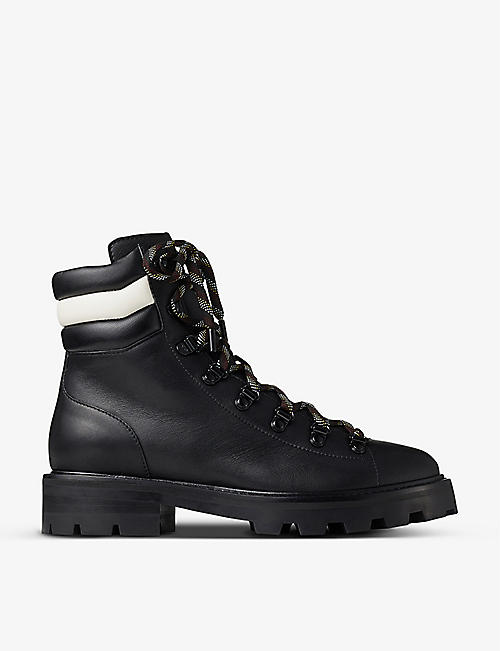 JIMMY CHOO: Eshe lace-up leather hiking boots