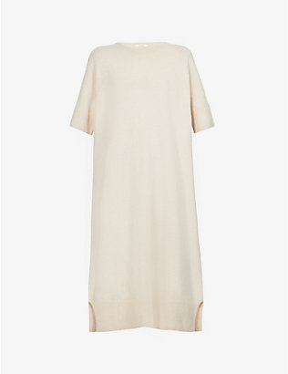 THE ROW: Abini wool and cashmere-blend mini dress