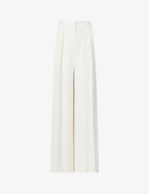 THE ROW: Avril wide-leg high-rise stretch-crepe trousers