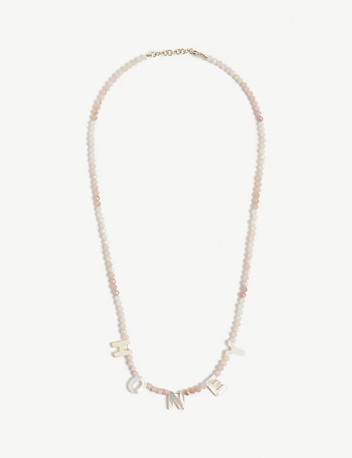 ROXANNE FIRST: Honey opal and mother-of-pearl necklace