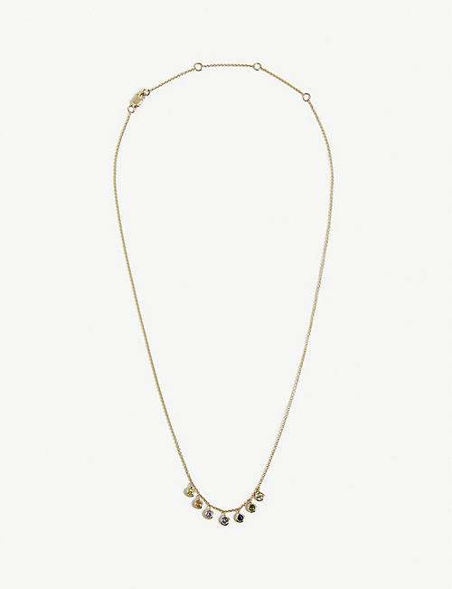 ROXANNE FIRST: Rainbow 14ct yellow-gold and sapphire necklace