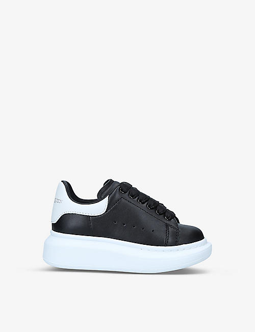 ALEXANDER MCQUEEN: Runway leather trainers 3-8 years