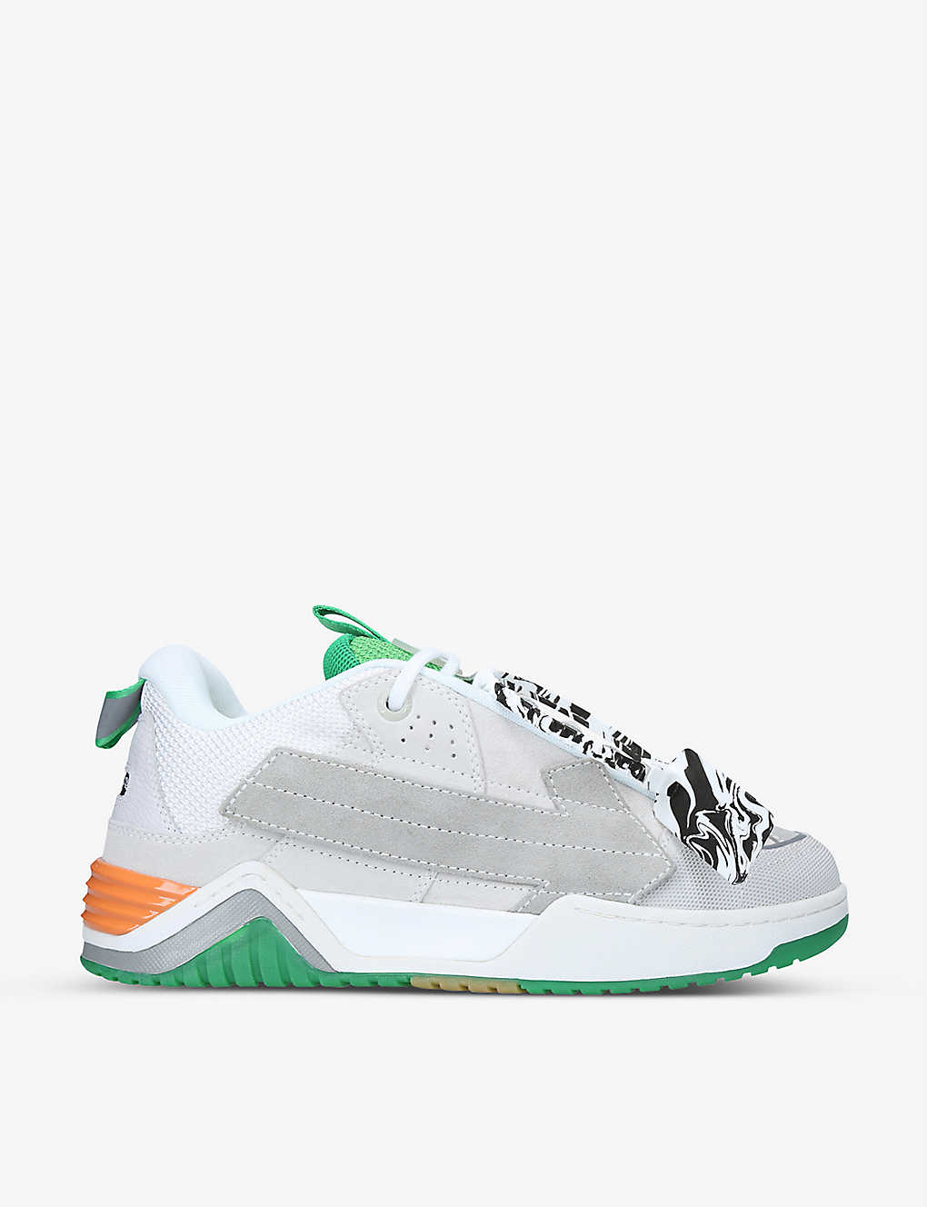 OFF-WHITE C/O VIRGIL ABLOH: Arrow Skate suede trainers