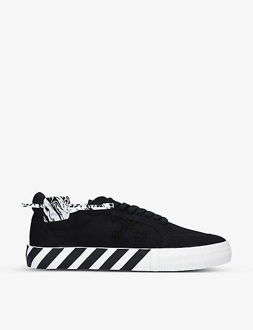 OFF-WHITE C/O VIRGIL ABLOH: Vulcanized tag canvas trainers