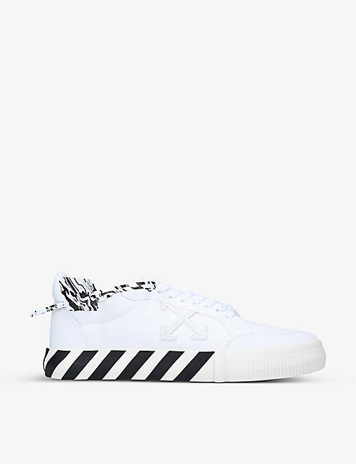 OFF-WHITE C/O VIRGIL ABLOH: Vulcanized canvas low-top trainers