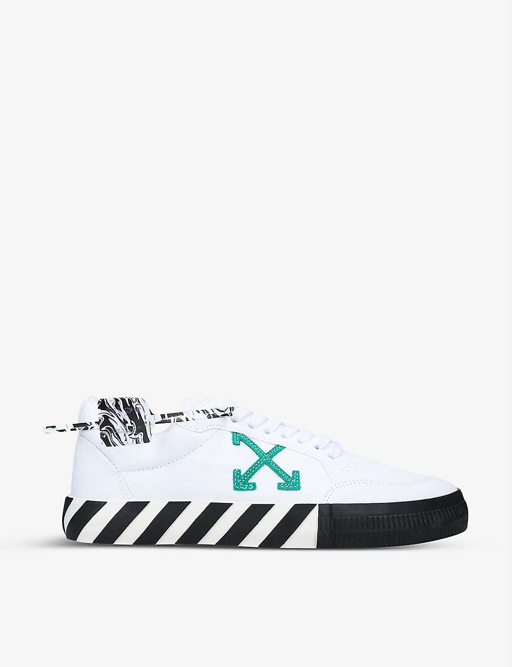 OFF-WHITE C/O VIRGIL ABLOH: Arrow-embroidered cotton low-top trainers
