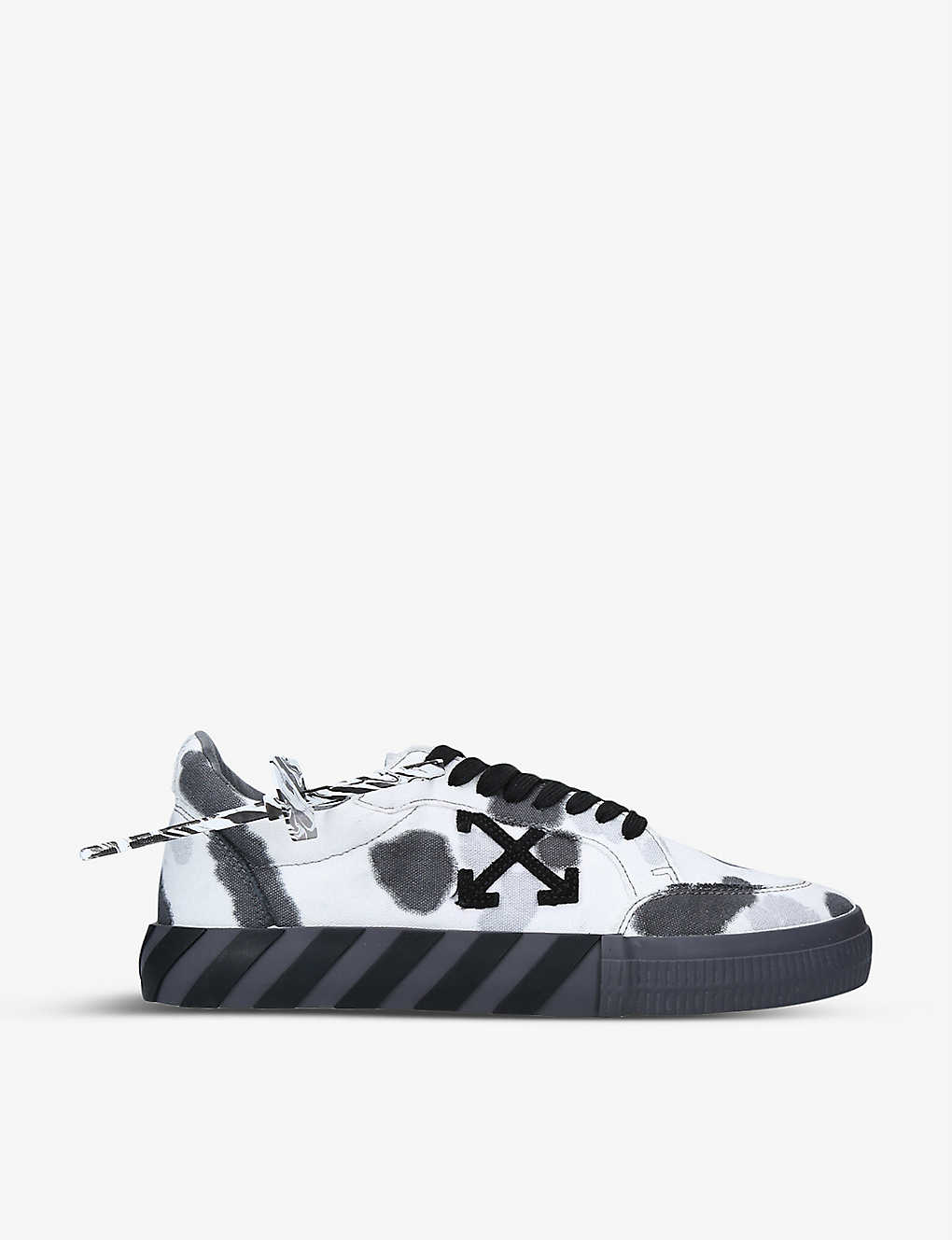 OFF-WHITE C/O VIRGIL ABLOH: Tie-dye vulcanised cotton-canvas trainers