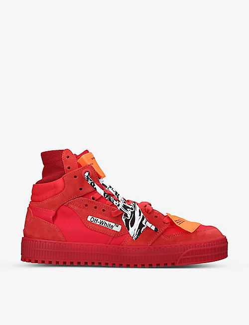 OFF-WHITE C/O VIRGIL ABLOH: Off-Court high-top leather trainers