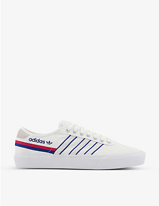 ADIDAS: Delpala canvas and leather trainers