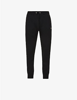 MOOSE KNUCKLES: Reynolds logo-embroidered cotton-jersey jogging bottoms