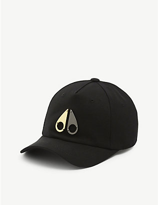 MOOSE KNUCKLES: Logo-detail cotton baseball cap