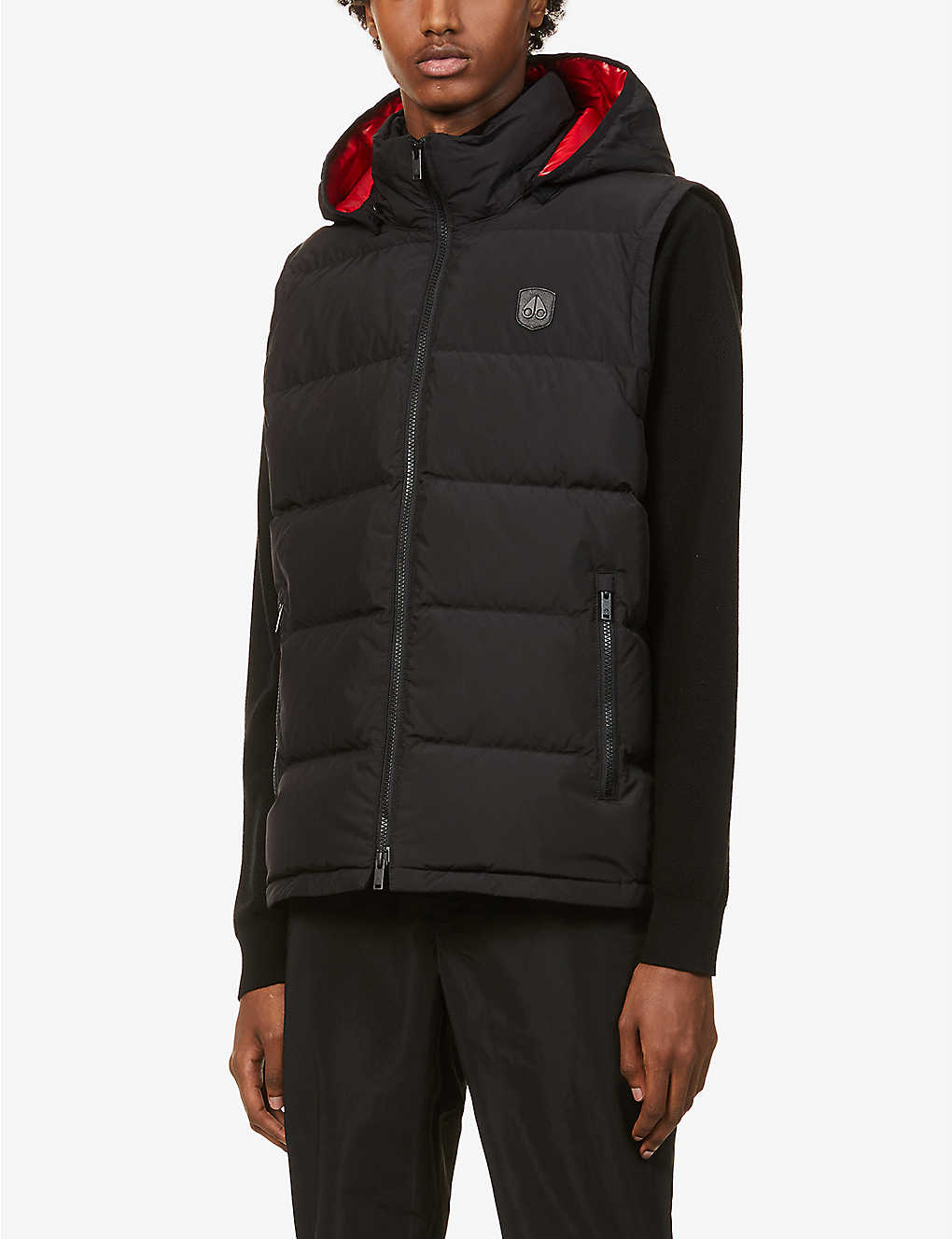 MOOSE KNUCKLES: Kilcona 2 hooded padded shell-down gilet