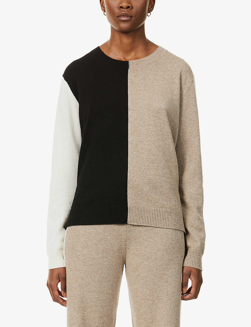 CHINTI AND PARKER: Colour-block cashmere jumper