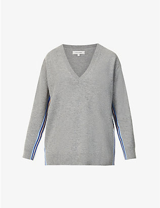 CHINTI AND PARKER: V-neck wool- and cashmere-blend jumper