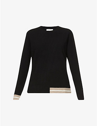 CHINTI AND PARKER: Stripe-hem cashmere sweater