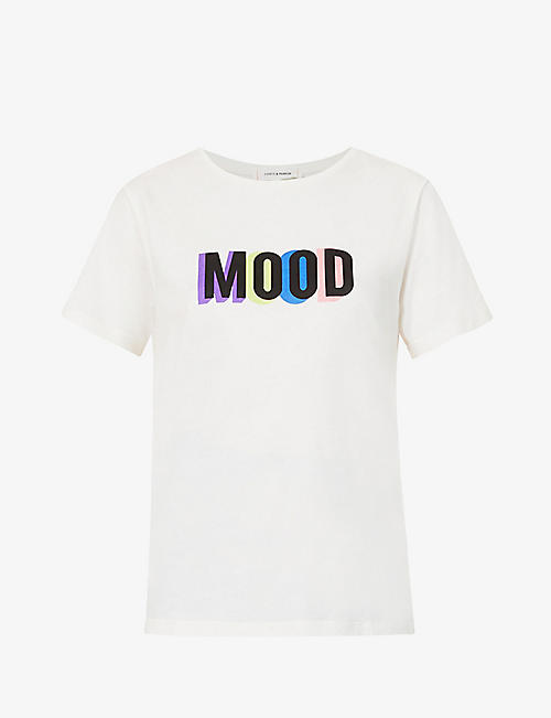 CHINTI AND PARKER: Slogan-print cotton T-shirt