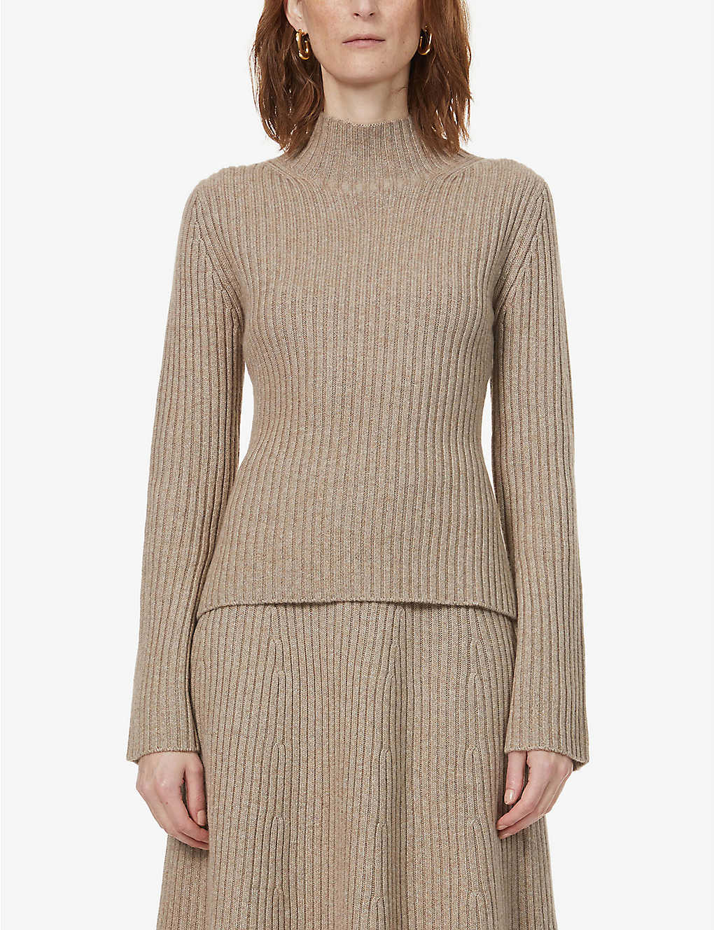 CHINTI AND PARKER: Contoured-rib cashmere jumper