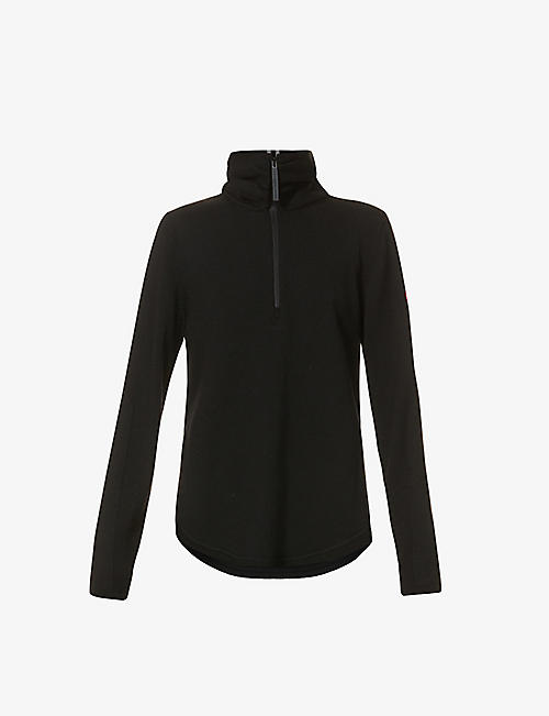 CANADA GOOSE: Fairhaven zip-front wool-blend jumper