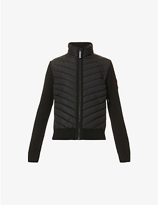 CANADA GOOSE: Hybridge padded wool and down knitted jacket