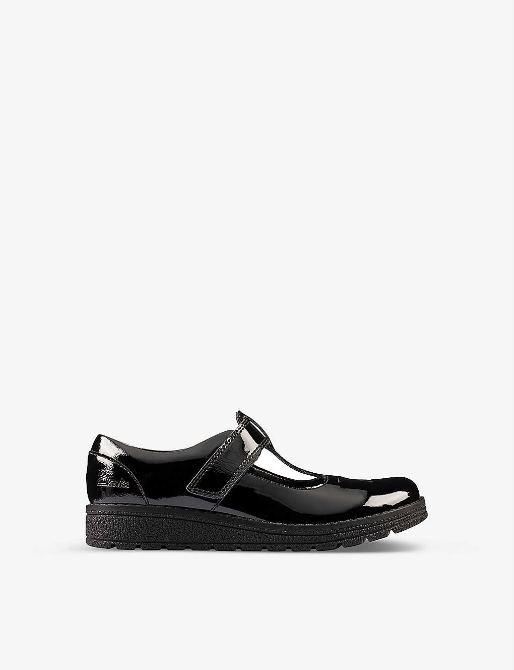 CLARKS: Mendip Joy patent leather shoes 5-8 years