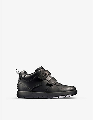 CLARKS: Rex Crash leather trainers 5-8 years