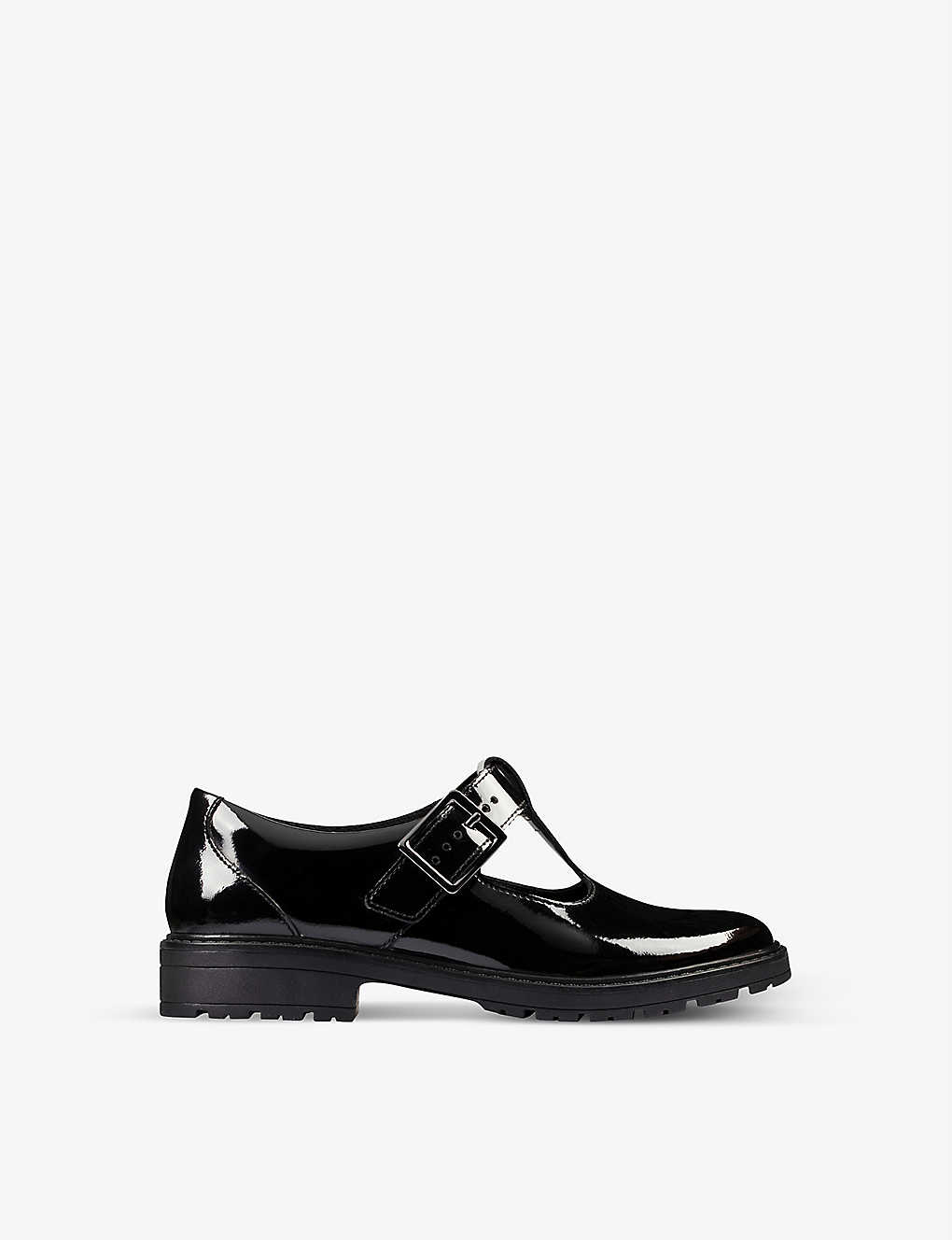 CLARKS: Loxham patent leather shoes 9-12 years