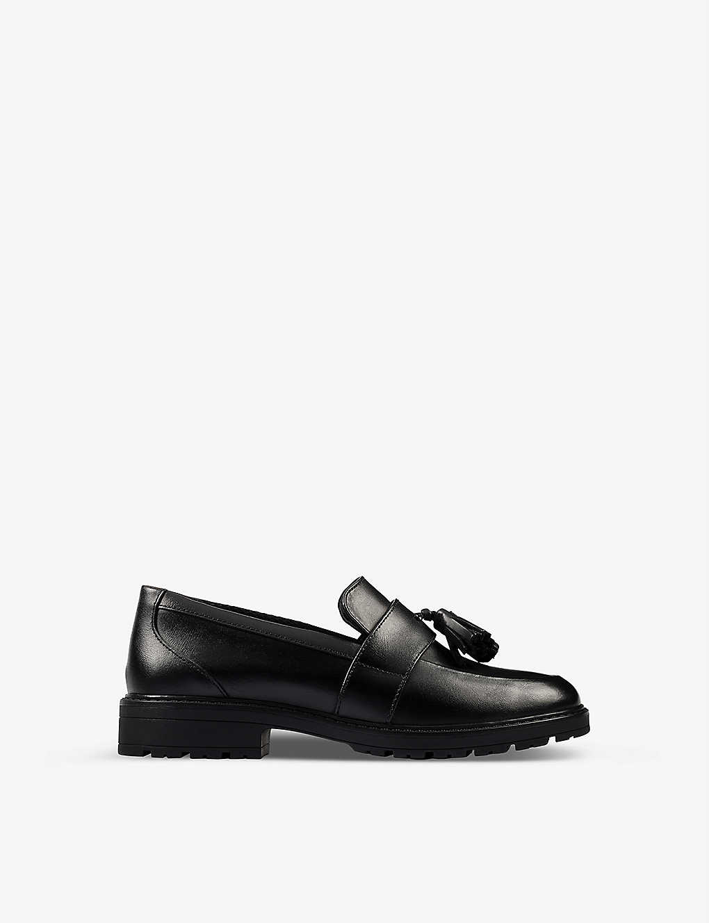 CLARKS: Loxham leather loafers 9-12 years